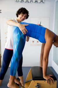 Lucy Beumer | Physiotherapist at Stafford Physiotherapy treating pilates client