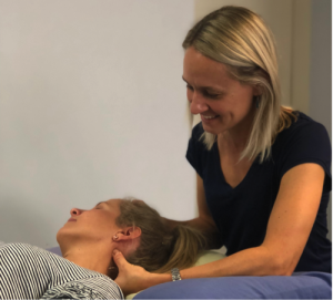 Stafford Physiotherapy and Pilates neck treatment by Allyson Flanagan